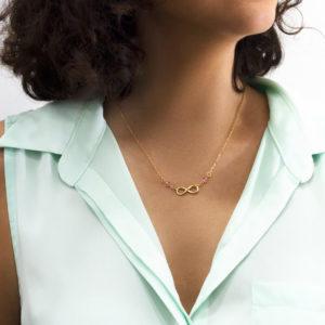 Collar Infinito chapa de oro