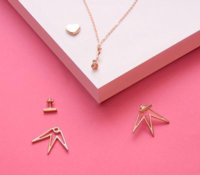 Chapa de Oro Rosa | Joyeria en Oro Rosa
